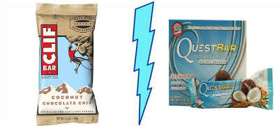 Clif Bar Coconut Chocolate Chip  vs. Quest Coconut Cashew