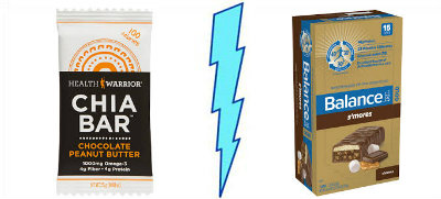 Health Warrior Chia Bar vs. Balance Bar S'mores
