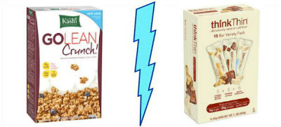 Kashi GOLEAN Crunch! vs. ThinkThin
