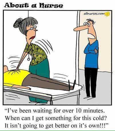 nurse patient waiting cartoons