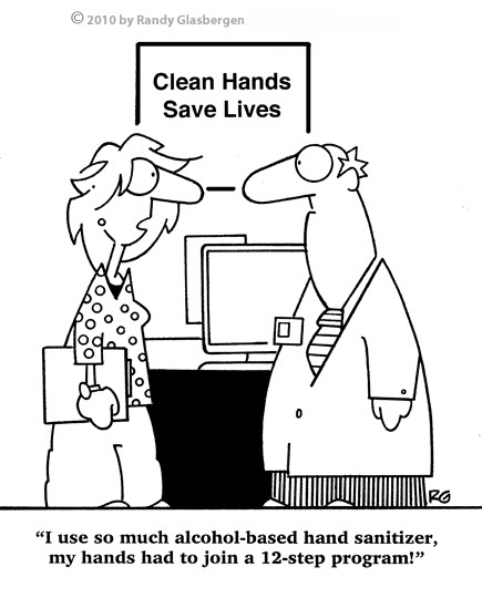 nurse sanitizer funny cartoons