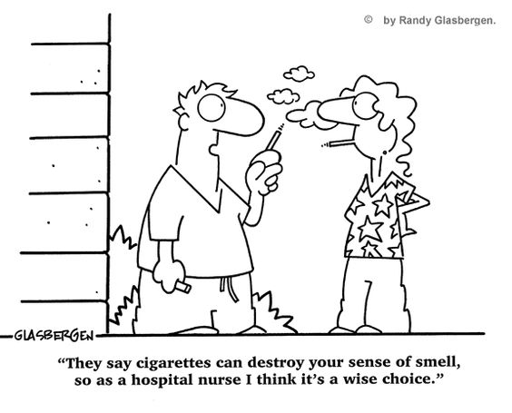 nurse smoking funny cartoons