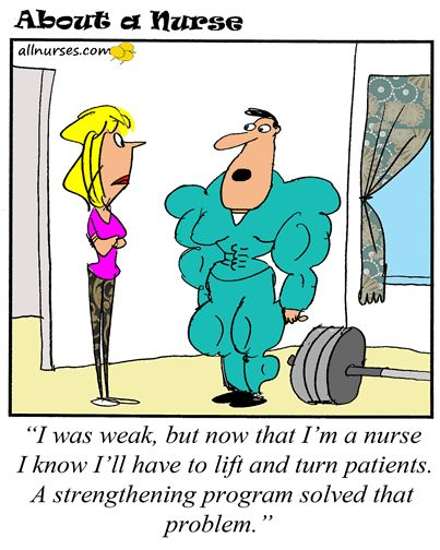 nurse strength funny cartoons
