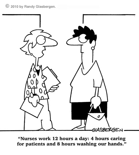 nurse work funny cartoons