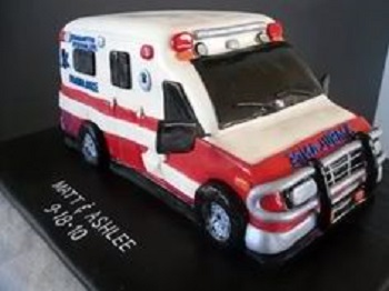 nursing cake ambulance