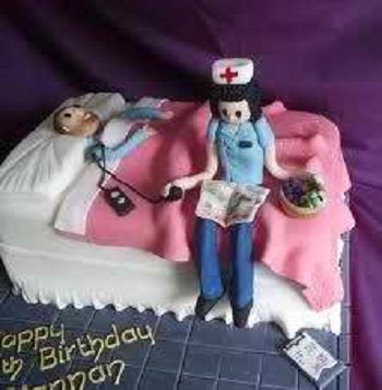 Nursing Cake Nurse And Patient
