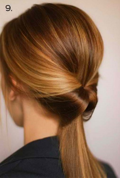 Flipped Ponytail