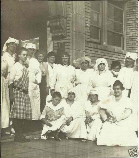 Group of Red Cross Nurses in Uniforms, 1917