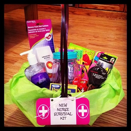 new nurse survival kit gift basket