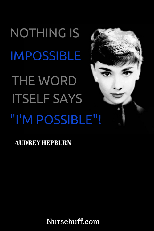 hepburn inspirational nursing quotes