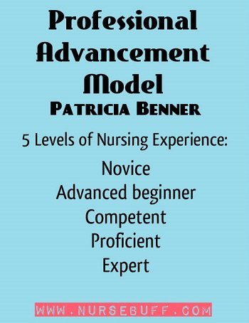 Professional Advancement Model (From Novice to Expert) by Patricia Benner
