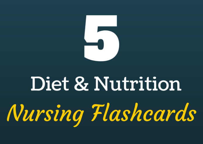 nutrition nursing flashcards