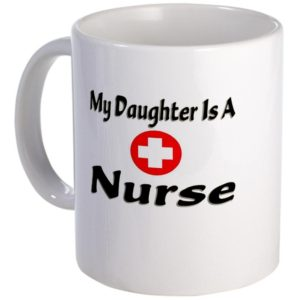 my daughter is a nurse mug