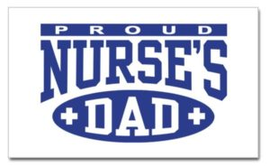 proud nurse dad sticker