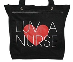 luv a nurse tote bag