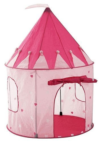 Girl's Pink Princess Castle Play Tent with Glow in the Dark Stars
