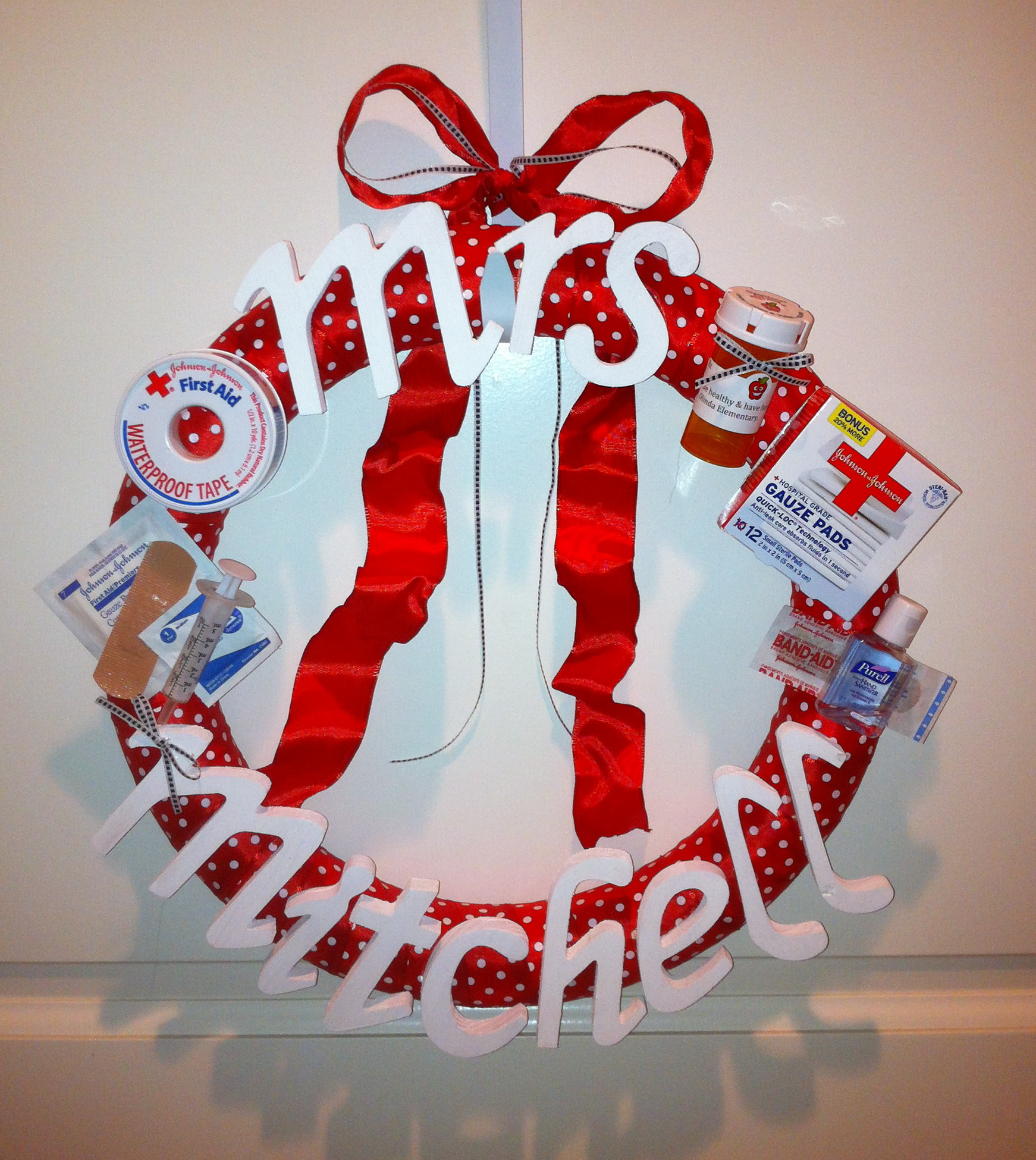 christmas nurse wreath