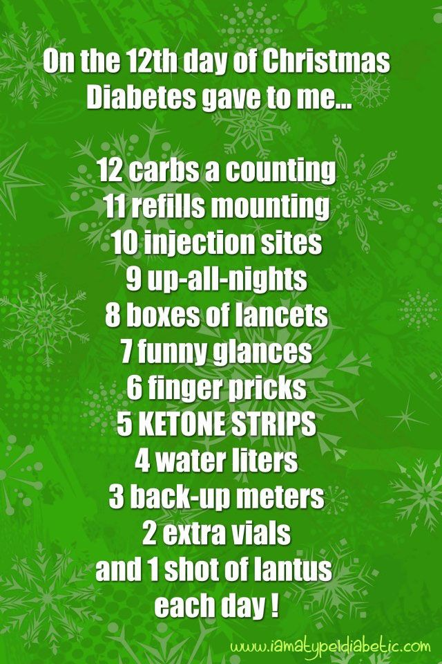 diabetes christmas song - On The 12th Day Of Christmas Song