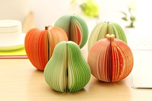 3d fruit paper note pads
