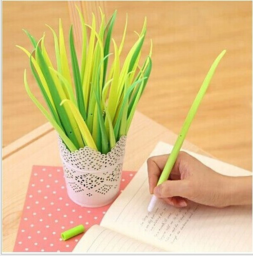 green grass blade pen