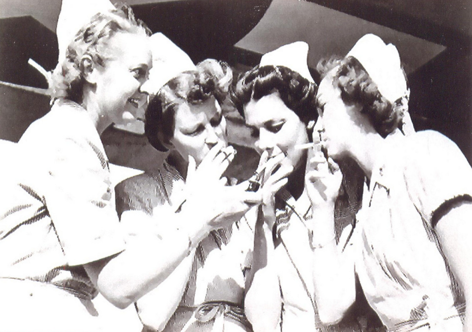 nurse smoking