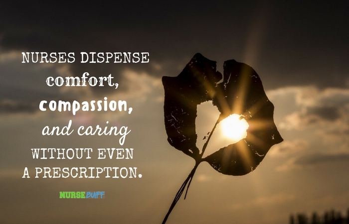 Comfort Quotes Gorgeous TODAY'S QUOTE Dispensing Comfort NurseBuff