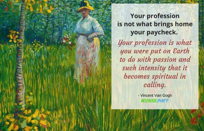 nurse quote van gogh