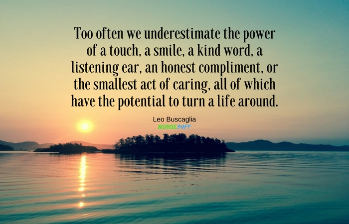 TODAY'S QUOTE: The Power Of A Touch