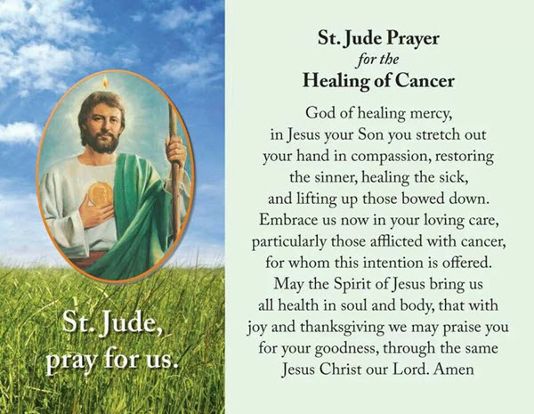st jude prayer healing for cancer