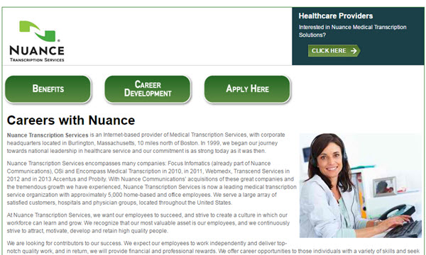 nuance transcription services