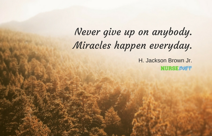 TODAY'S QUOTE Never Give Up NurseBuff Magnificent Quotes Never Give Up
