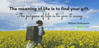 nurse quote purpose of life