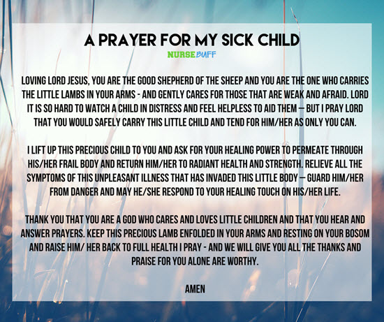 8 Miracle Prayers For A Sick Child Nursebuff