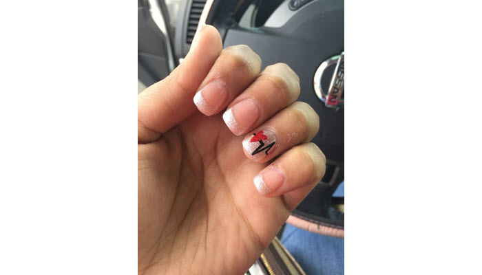 Heart-Rate-Accent-On-French-Tip-Nails
