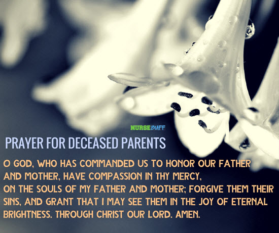 prayer for deceased parents