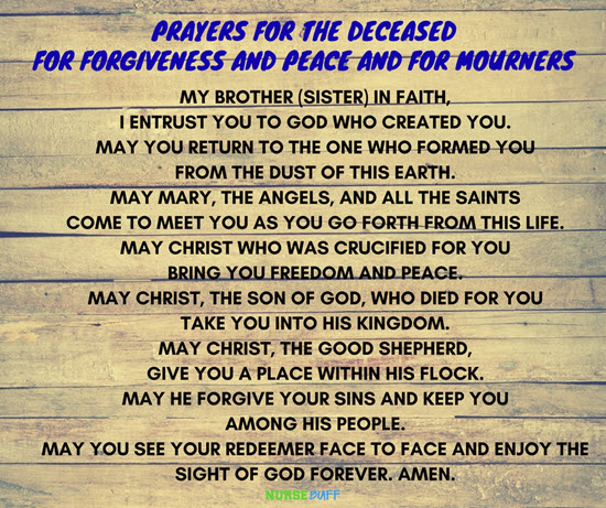prayer for the deceased for forgiveness