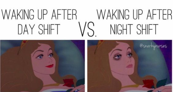 waking up night shift memes
