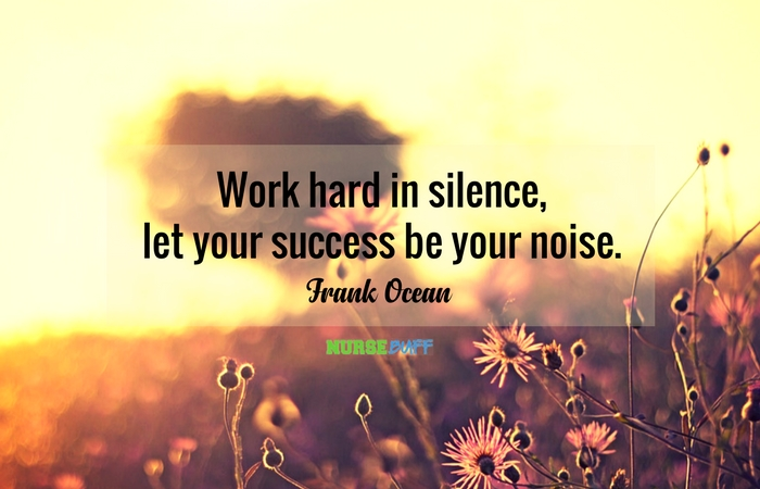 TODAY\'S QUOTE: Work Hard In Silence, Let Success Be Your ...
