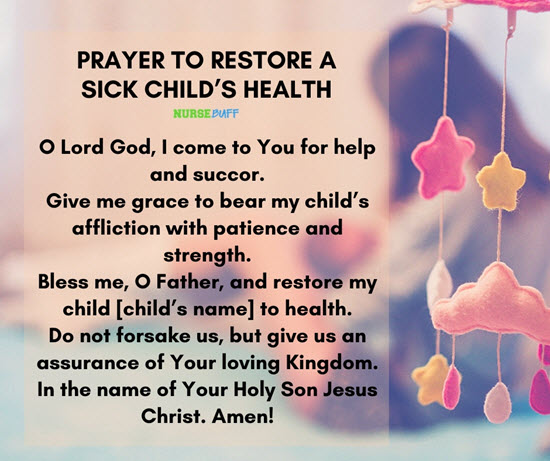 10 Miracle Prayers For A Sick Child - NurseBuff