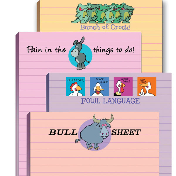 funny adult note pad