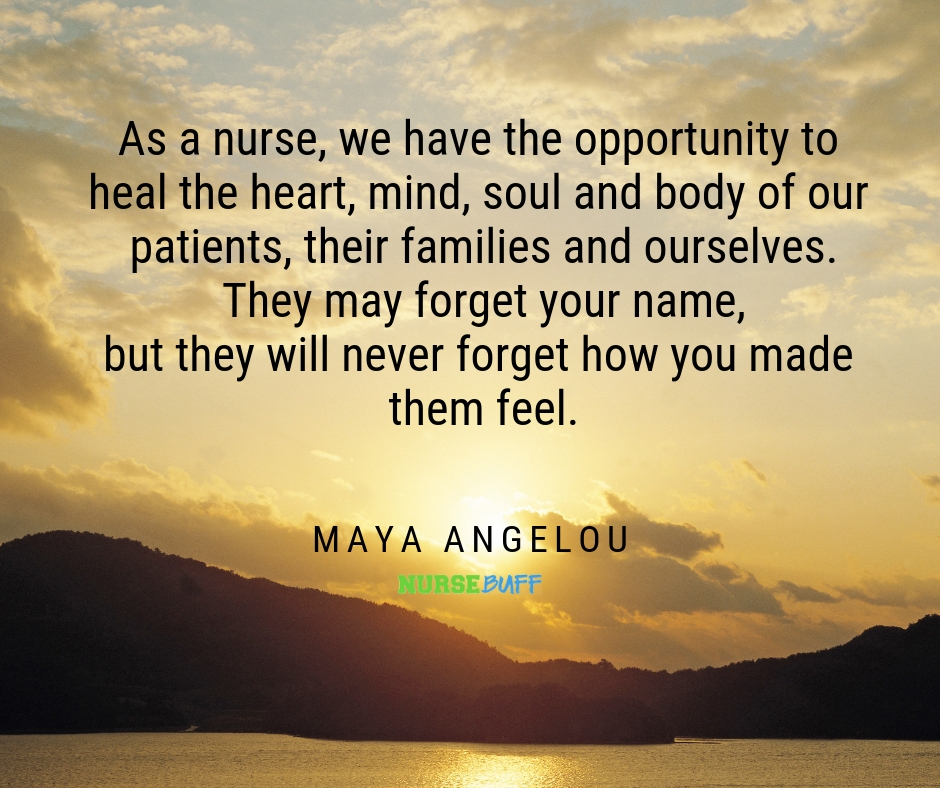 maya angelou nurse quotes