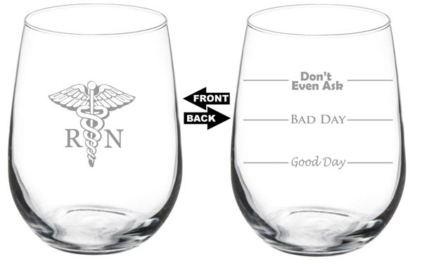 nurse funny wine glass