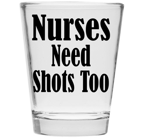 nurse shot glass