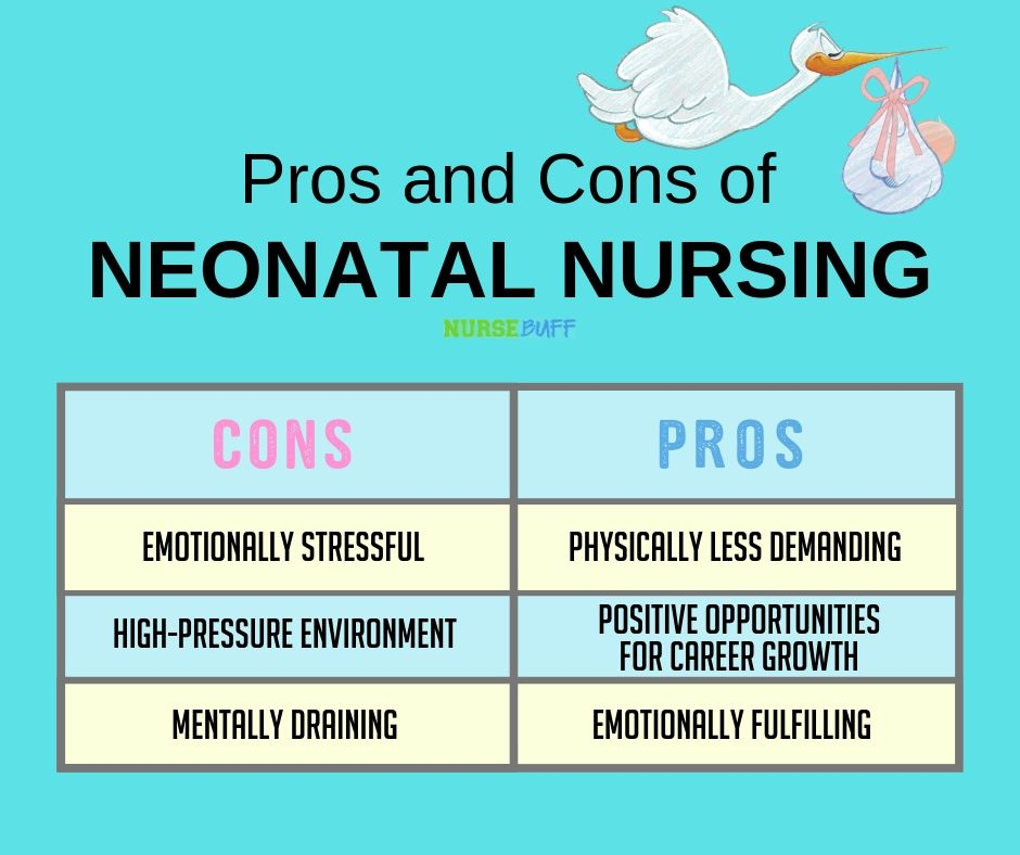 pros and cons of neonatal nursing graphic card