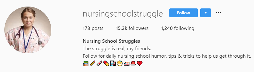 20 Cool Instagram Accounts For Nurses and Nursing Students - NurseBuff