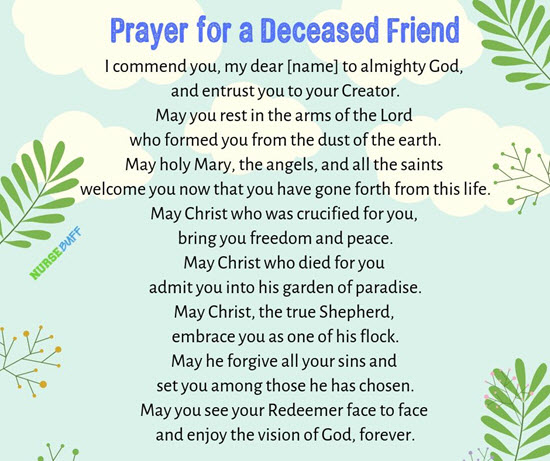 prayer for a deceased friend