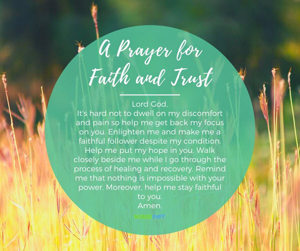 a prayer for faith and trust for cancer patients