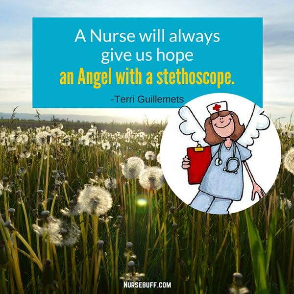 angel with a stethoscope nursing quotes