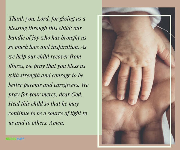 prayer and blessing for a sick child