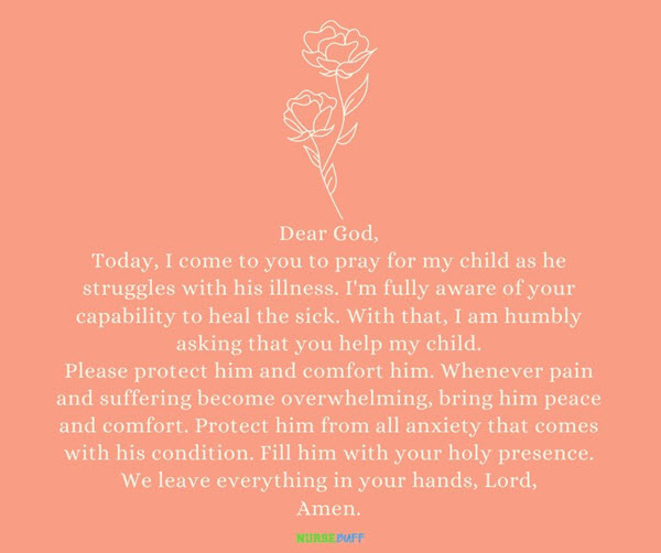 prayer for illness of a sick child